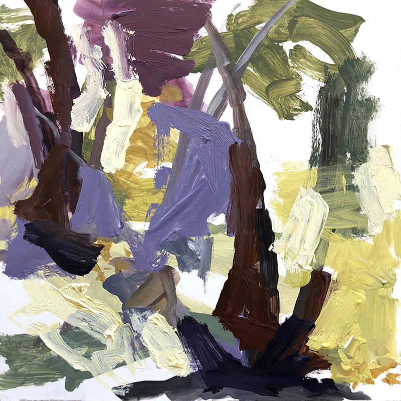April Morning, oil on board, yellow box artist residency, belinda street, australian artist, oil painting, art