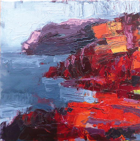 Sleepy Bay Study 1, 2012, oil on canvas, 30x30cm - SOLD