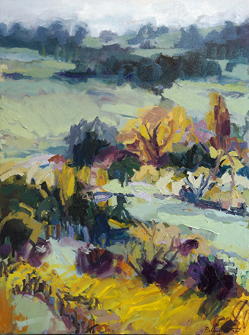 Belinda Street Australian Artist landscape painting Vineyard in Orange, 2015, oil on canvas, 80x60cm