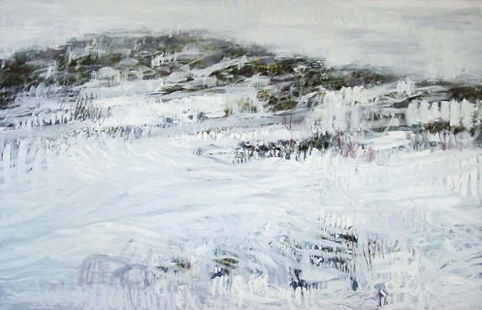 Belinda Street Australian Artist landscape painting Kosciuszko 1, 2006, oil on canvas, 110x170cm - SOLD